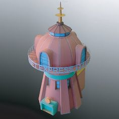 Tektonten Papercraft - Free Papercraft, Paper Models and Paper Toys: Futurama Papercraft: Planet Express Headquarters B. Geek Crafts, Home Crafts, Diy Crafts, Futurama, 3d Paper, Paper Toys, Paper Structure, Tiny Gifts, Miniature Houses