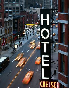 The Chelsea Hotel, West St, New York City, United States. Andy Warhol filmed The Chelsea Girls here. Chelsea Nyc, Chelsea Hotel, Chelsea Manhattan, Monuments, Parks, A New York Minute, I Love Ny, City That Never Sleeps, Concrete Jungle