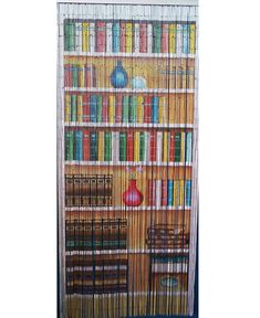 1 x Curtain Strands). - The curtain lengths varies between to since it's a natural handmade item. Room Divider Bookcase, Room Divider Doors, Closet Curtains, Door Curtains, Bamboo Beaded Curtains, Doorway Curtain, Painted Bamboo, Curtain Length, Tea And Books