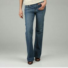 """Seven 7 Low Rise Distressed Boot Cut Jeans ??HP 10/10 Insta-Chic by charlibee ??  Seven low rise distressed boot cut jeans. Classic five pocket styling. Some ware on back hem.   98% cotton 2% spandex Machine washable  39"""" out seam 33"""" inseam 7"""" rise 17' leg opening  Great jeans with lots of life left in them. Seven7 Jeans Boot Cut"""
