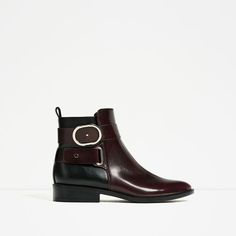 Image 1 of CONTRAST BUCKLE ANKLE BOOTS from Zara