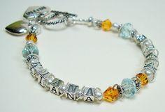 Make a Mother's Day Bracelet, Mommy Bracelet, Grandmother Bracelet