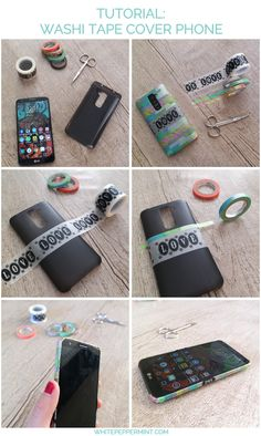 Mini tutorial per una cover phone con i nastri washi tape