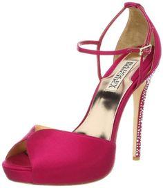 Badgley Mischka Women's Violetta Platform Pump,Raspberry Satin  Have these… way comfortable and sparkly!!