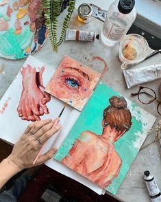 hola 🤗 new video up on my channel! Some oil painting sketches and me talking about random stuff 😁 hope you guys enjoy it! I'm gonna take a… Kunst Inspo, Art Inspo, Aesthetic Painting, Aesthetic Art, Arte Sketchbook, Sketchbook Ideas, Sketchbook Inspiration, Mini Canvas Art, Art Hoe