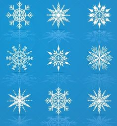 Set of Vector Snowflakes #GraphicRiver Set of nine vector snowflakes for christmas design Created: 9April13 GraphicsFilesIncluded: JPGImage #VectorEPS #AIIllustrator Layered: Yes MinimumAdobeCSVersion: CS Tags: abstract #art #christmas #cold #crystal #decoration #design #element #flake #frozen #graphic #group #holiday #ice #icon #illustration #isolated #ornament #painting #season #set #shape #silhouette #snow #snowflake #star #symbol #symmetry #variation #vector