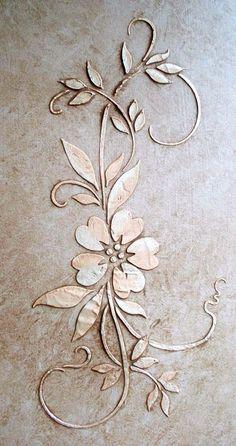 Raised Plaster Stencils Leaf Stencils