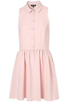 CUTE CREPE SHIRT DRESS