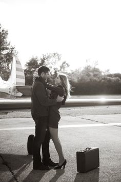 Toying with the idea of involving airplanes in the engagement photos