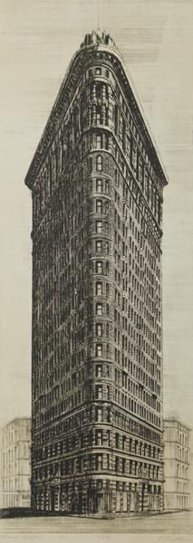 Richard Haas (b. 1936) Flatiron Building, [New York City], 1973 	etching