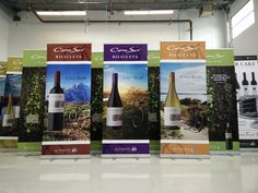 22 Authentic Wine Merchant roll up banners.  #banners #cmyk #signs #largeformat #printing #vancouver