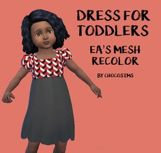 Choco Sims: The dress for toddlers • Sims 4 Downloads