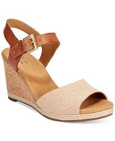b8b6b2fedc1 Clarks Collection Women s Helio Jet Wedge Sandals Shoes - Sandals   Flip  Flops - Macy s