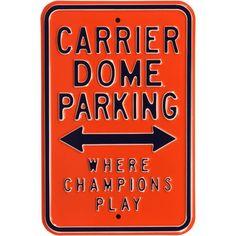 Authentic Street Signs Syracuse Orange Parking Sign, Team
