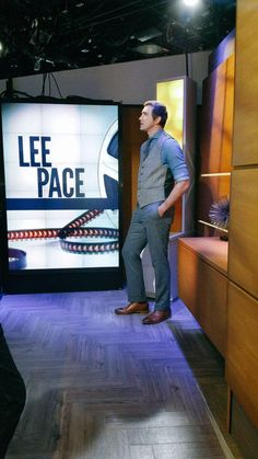 Lee on The Today Show set.  12/11/14