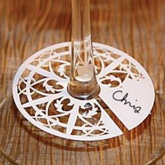 Laser cut wedding name card