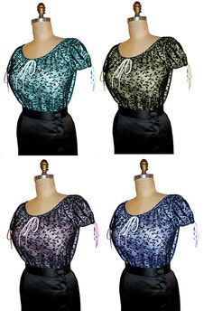 1955 Marilyn Lacy Blouse / Top from the Movie: Bus by pinkpurr