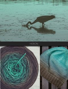 Heron is a serene colour, transitioning from mint to a warm grey. The Blue Brick Ombré series is a collection of long-run gradient yarns, hand dyed to match photography, and objects from the natural world. This skein will ship with the photograph used as the main product image. Ombré yarns may be ordered in any of the bases listed below. Please note that these yarns are dyed-to-order, and that, from dyeing to delivery may take up to three weeks.      Killarney Sock 80/20 Superwash…