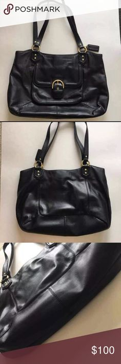 f6a8f52ca1 Coach Black Leather Purse Tote This is an authentic Coach purse. Barely  used. I cant find any scratches or marks. Its in excellent condition.