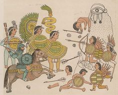 Jal-ixco - Aztec - Cristóbal de Olid leads Spanish soldiers with Tlaxcalan allies in the conquest of Jalisco, 1522
