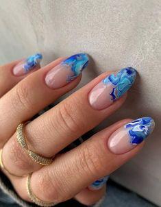 Cute Summer Nail Designs, Winter Nail Designs, Nail Art Designs, Bright Summer Nails, Cute Summer Nails, Sea Nails, Blue Nails, Nail Color Trends, Nail Colors