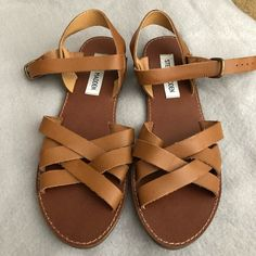 fce2124b9ac Shop Women s Steve Madden Brown size 6 Sandals at a discounted price at  Poshmark.