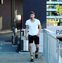 #man #white #boots #walking #streetstyle #streetfashion #mensfashion #details #lifestyle #shorts #fashionista #clothes #fashionaddict #eyes #blond #serbia #blogger #fashionstylist #lookoftheday #style #fashionpost #trendy #ootd Walk Together, Walking Alone, White Boots, Men Street, Fashion Stylist, Fashion Addict, Blond, Sporty, Street Style