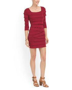Double Knit Tiered Dress that would be fun for Valentine's Day
