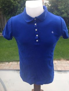New to MajorDivision on Etsy: Vintage Blue Womens Short Sleeve Lauren Ralph Lauren Polo (15.00 CAD)