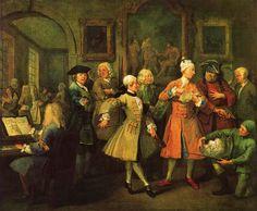 William Hogarth - Carriera di un libertino (II) - Il risveglio del libertino