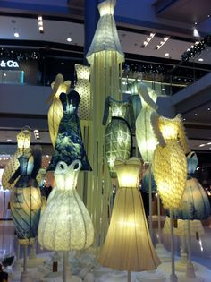 Dress art installation at IFC mall HK