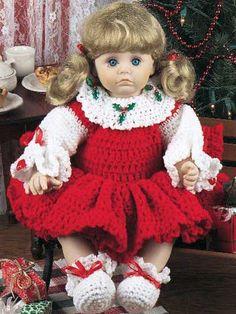 Crochet for Babies & Children - Accessories to Crochet for Kids - Jenny's Christmas Dress