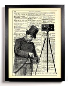 Say Cheese Repurposed Book Upcycled Dictionary Art Vintage Book Print Recycled Vintage Dictionary Page Buy 2 Get 1 FREE. $6,99, via Etsy.