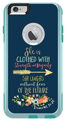 PROVERBS BIBLE VERSE OTTERBOX COMMUTER CASE FOR IPHONE 6/6S www.customcellpho... #Bible #PROVERBS #Iphone