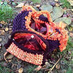 Borsa e pochette in seta e jersey #bag #pochette #jersey #silk #crochet #knitting #fall #autumn #etsy
