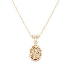 Treat yourself to the sophisticated allure of the Vivica necklace. CZ's surround the dazzling druzy stone pendant, which is suspended on a CZ adorned bail for still more sparkle. Wearing this refined beauty will ensure all eyes are on you. FInd it on Splendor Designs