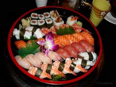 Sushi...this is the real McCoy. Not all those pretty pictures I keep seeing everywhere.