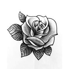 Rose Heart Tattoo, Blue Rose Tattoos, Flower Tattoos, Black Tattoos, Body Art Tattoos, Small Tattoos, Black And White Rose Tattoo, Tattoos Skull, Rose Drawing Tattoo