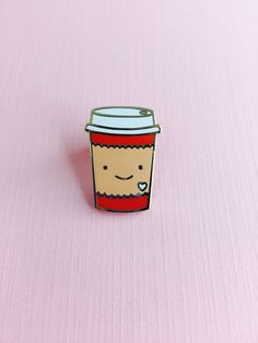 But first.. COFFEE! Add to your shirt, jacket, purse, or backpack! This super-cute Coffee Cup enamel pin is handmade by Night Owl Paper Goods. Materials: cloisonne, gold metal, clear sleeve, backer ca