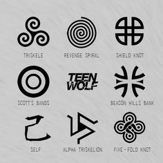 Image result for teen wolf symbols                                                                                                                                                                                 Plus