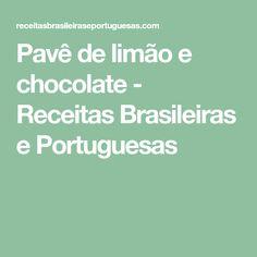 Pavê de limão e chocolate - Receitas Brasileiras e Portuguesas