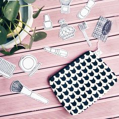 beauty sendout with illustrationy by Luloveshandmade // photo by Picnic Blanket, Outdoor Blanket, Lisa, Louis Vuitton Damier, Germany, Instagram Posts, Pattern, Bags, Beauty