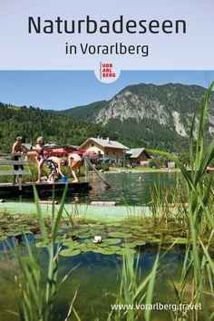 In Vorarlberg gibt es neben den natürlichen Seen mit höchster Wasserqualität auch Badeteiche und -anlagen, die mit naturbelassenem Wasser ohne Zusatz von Chemie zur Erfrischung einladen. #natur #sommer #see #visitvorarlberg #myvorarlberg Seen, Holidays, Mountains, Nature, Travel, The Great Outdoors, Summer Days, Chemistry, Pond