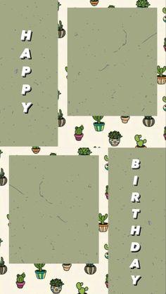 Happy Birthday Template, Happy Birthday Frame, Happy Birthday Posters, Happy Birthday Wallpaper, Birthday Posts, Birthday Frames, Birthday Cards, Birthday Collage, Happy Birthday Quotes