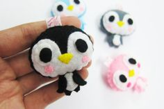 Cute Penguin Keychain/Phone Charm/Magnet  Raul Gloria by araleling, $7.00