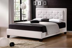 Interior, Fancy Bedroom Design With Marvelous White Leather Bed Frame On Combined Comfortable Black Bed Sheet And Soft White Leather Headboard Plus Nice White Floor Lamp Also Trendy Brown Laminate Flooring: Adorable Interior Bedroom Design Ideas Bedroom Designs For Couples, Romantic Bedroom Design, Fancy Bedroom, Bedroom Vintage, White Bedroom, Bedroom Ideas, Master Bedroom, Bedroom Size, King Size Bed Headboard