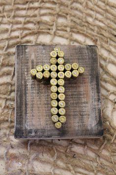 Bullet Cross Art. $29.95, via Etsy.