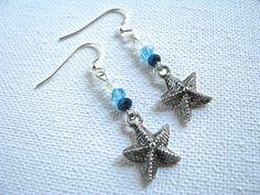 Beach Bling Starfish and Crystal Long Dangly by joyaslindas3, $14.99