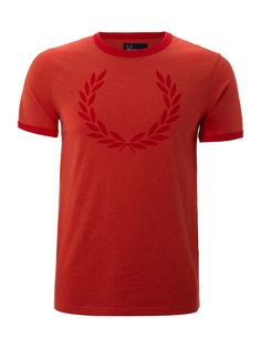 Fred Perry Crew neck laurel print T-shirt - Tops & T-Shirts - Clothing - Men