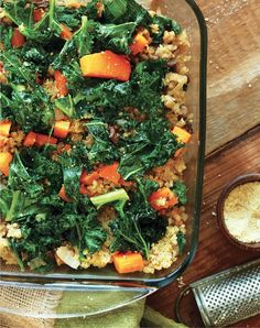 A simple Butternut Squash, Kale & Quinoa Bake that celebrates the flavors and vegetables of autumn for a hearty and healthy meal.